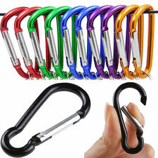 5Pcs Durable Aluminum Snap Hook Carabiner D-Ring Key Chain Lock Clip Hiking Camp