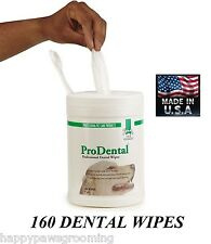 DENTAL WIPES for DOG CAT PET*Cleans TEETH,Freshens Breath REDUCES PLAQUE&TARTER
