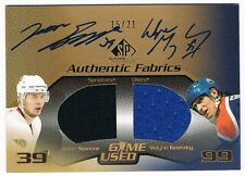2003-04 SP GAME-USED DUAL JERSEY AUTOGRAPH GOLD WAYNE GRETZKY JASON SPEZZA 15/21