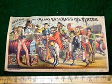 1870s-80s Uncle Sam Supplying the World Berry Bros Hard Oil Finish Card F19