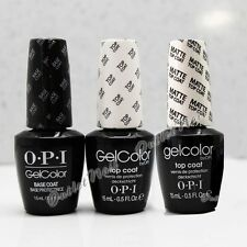 OPI GelColor Soak Off Gel 3pc Kit: BASE +TOP + MATTE TOP COAT SET GC 010 030 031