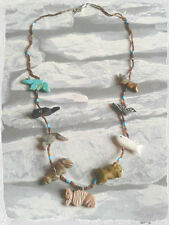 Native American Indian joyería Buffalo Fox Oso Ardilla Tortuga Bird Collar 2