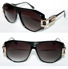 Men's Vintage 163 Sunglasses  80's Polished Black Gold Hip Hop Retro Vintage