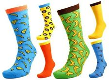 PACK OF 6 ASSORTED PAIRS MENS 7-11 MONKEY BANANA EVERYDAY COTTON LYCRA SOCKS