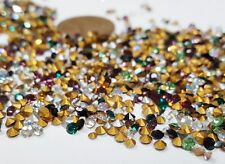 400 VINTAGE SWAROVSKI ASSORTED COLOR SMALL LOOSE RHINESTONES JEWELRY REPAIR S858