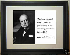 "Winston Churchill ""that means"" Facsimile Autograph Quote Framed Photo Picture"