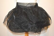 BEAUTIFUL BLACK  SKIRT WRAP TUTU UNDERSKIRT SCENE GOTH BURLESQUE PETTICOAT XS-XL