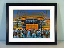 """Jack Kavanagh """"City of Manchester Stadium"""" Hombre Ciudad enmarcado impresión"""