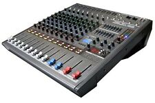 DJ PA 8/9 Channel 700W Powered Mixer MP3 USB/SD Player 48V,GAIN,AUX,EFF,PAN MGP9