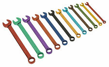 Siegen Sealey 12 Pce Metric MULTI COLOURED Combination Spanner/Wrench Set S01074