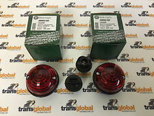Land Rover Defender 90 110 130 TD5 Red Brake Stop Light Lamp Units x2 - Bearmach