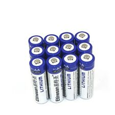 12pcs Etinesan Lithium AA Batteries 1.5V Expiry 2030,good as Energizer lithium