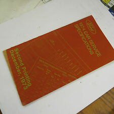 Ford 1974 Car Service Specifications, Second Printing December 1973