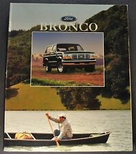 1996 Ford Bronco Truck Brochure XL XLT 4x4 Eddie Bauer Excellent Original 96