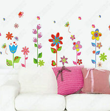 Colorful Butterflies Flower Wall Stickers Art Decor Decal  Removable Vinyl
