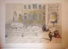 GRANADA. Capilla de los Reyes Católicos,David Roberts 1837.