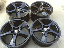 "20"" NEW POWDER COATED BLACK PORSCHE CAYENNE TECHNO TURBO FACTORY ORIGINAL WHEELS"