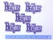 Set Of 5 The Beatles 60's Rock And Roll Oldie B/W Embroidered Iron On Patch