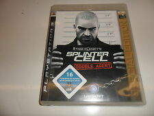 PlayStation 3 PS 3  Tom Clancy's Splinter Cell: Double Agent - Special Edition