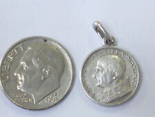 Sterling SILVER Charm w/ POPE PAUL VI-  Guide , Friend,  Protector