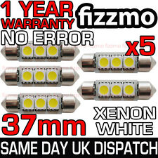 5x 3 SMD LED 37mm 239 272 CANBUS SIN ERROR BLANCO LUZ DE MATRÍCULA