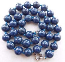 8MM Blue Egygtian Lapis Lazuli Round Beads Gems Necklace 18''