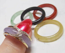 New Old Stock 14k Five Color Changeable Jade Ring Change Everyday Size 7 1/2