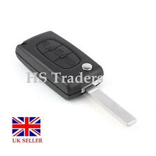3 BUTTON FLIP REMOTE KEY FOB CASE FOR CITROEN C4 C5 C6 C8  *no battery holder*