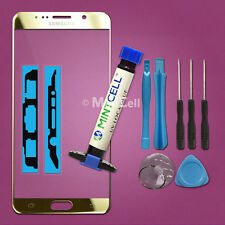 Gold Front Screen Glass Replacement for Galaxy Note 5 Repair w/ LOCA UV Glue
