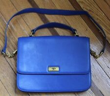 J Crew Cobalt Blue Leather Shoulder Bag like Edie Grand Flap Front purse