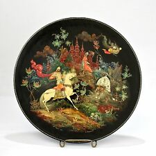 Fine Artist Signed & Dated 1961 Russian Lacquer Plate - Palekh - VR