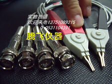 4 BNC LCR Meter Test Leads / LCR test Clip / Terminal Kelvin Test Probe  Line