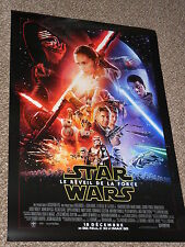 "Star Wars The Force Awakens ""FRENCH VER B"" 27x40 Original D/S Movie Poster"