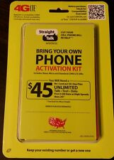 VERIZON PHONES ON PREPAID STRAIGHT TALK UNLIMITED TALK,TEXT, AND DATA $45/MONTH