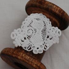 4 Vintage Estilo Crochet Encaje De Algodón De Adorno Motivo ajuste-Marfil Cat - 6 Cm X 5 Cm
