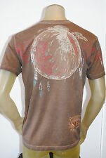 NEW REMETEE by AFFLICTION mens heritage SERIES graphic EAGLE BROWN Tshirt *M