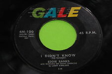 Rare R & B 45 : Eddie Banks ~ I Didn't Know ~ What's The Use ~ Gale 4M-100