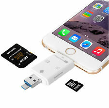 i-Flash Drive SD Memory Card Reader Adapter For iPhone 5s / 6 / 6s Plus iPad iOS