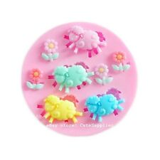 Sheep Animal Flower Silicone Polymer Clay Resin Fondant Candy Jewelry Mold Mould
