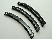 10 Black Plastic Thin Banana Clip Hair Claw Ponytail Holder 9X98mm for DIY Craft