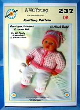 """1 DOLLS KNITTING PATTERN to fit Annabell  No 237 by Daisy-May 17""""-19"""" doll"""