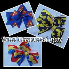 Pigtails hair bows!!! Choose from various super heroes.