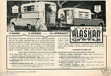 1969 Print Ad of The Alaskan Camper Pickup Truck Bed Camper