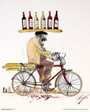 WINE - STEADMAN ART POSTER - 24x30 RALPH BICYCLE 10685