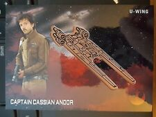 2016 Topps Star Wars Rogue One Captain Cassian Andor - U-wing Bronze Medallion