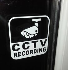 CCTV RECORDING TAXI WINDOW STICKERS (set of 3)