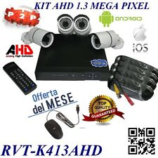 KIT DVR 4 CANALI COMPLETO TOP QUALITY AHD P2P