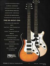 The 1993 PRS EG Bolt On guitar ad 8 x 11 Paul Reed Smith advertisement