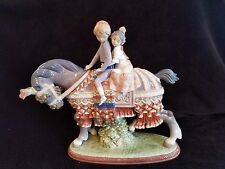 LLADRO RETIRED GIRL BOY VALENCIAN CHILDREN  HORSE #1489 FIGURINE STATUE 01001489