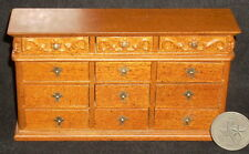 Dollhouse Miniature Bespaq Wooden Bureau Chest Dresser 1:12 Bedroom Furniture